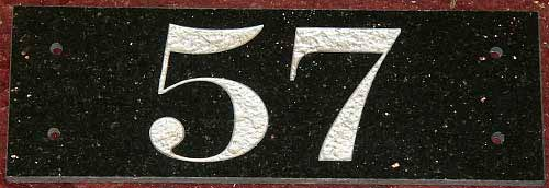 Granite and Marble House Numbers |  The Sign Maker Shop